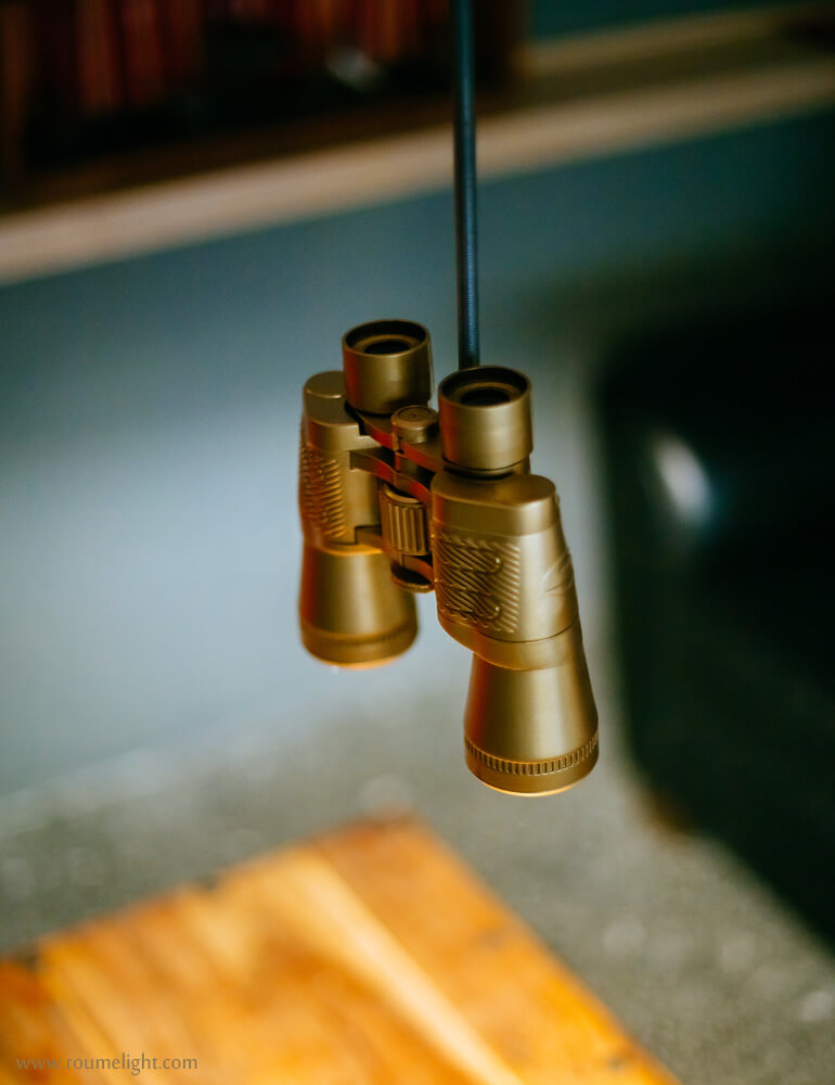 Detailed view of the binoculight by roumelight