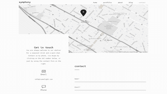 The contact form of the new website