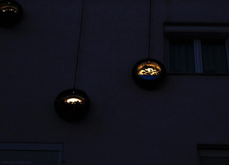 Detailed view of the spiralight-hangarden by roumelight