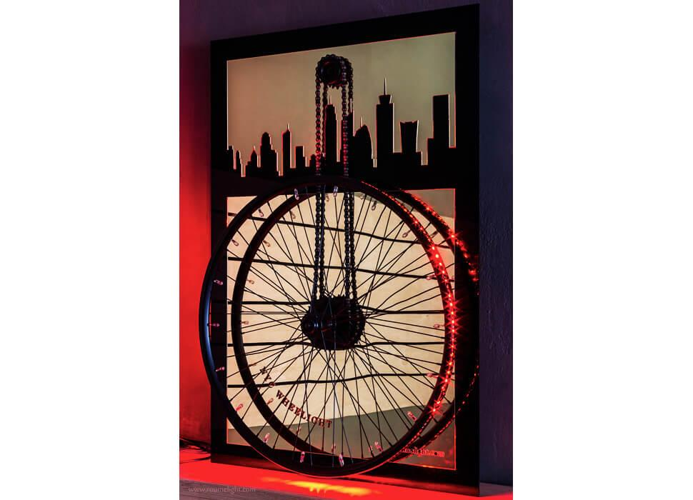 Detailed view of the wheelight-nyc by roumelight